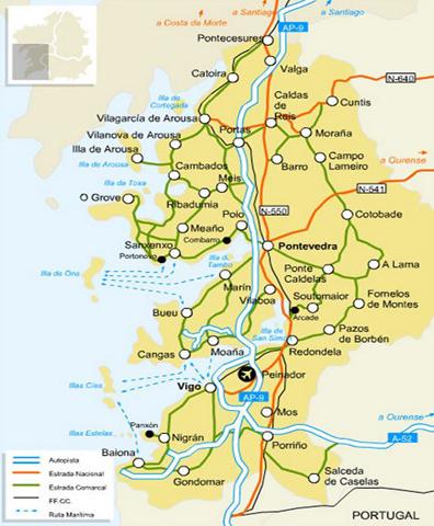Mapa De Rias Bajas.Rias Baixas Came4wine Your Wine Travel Guide